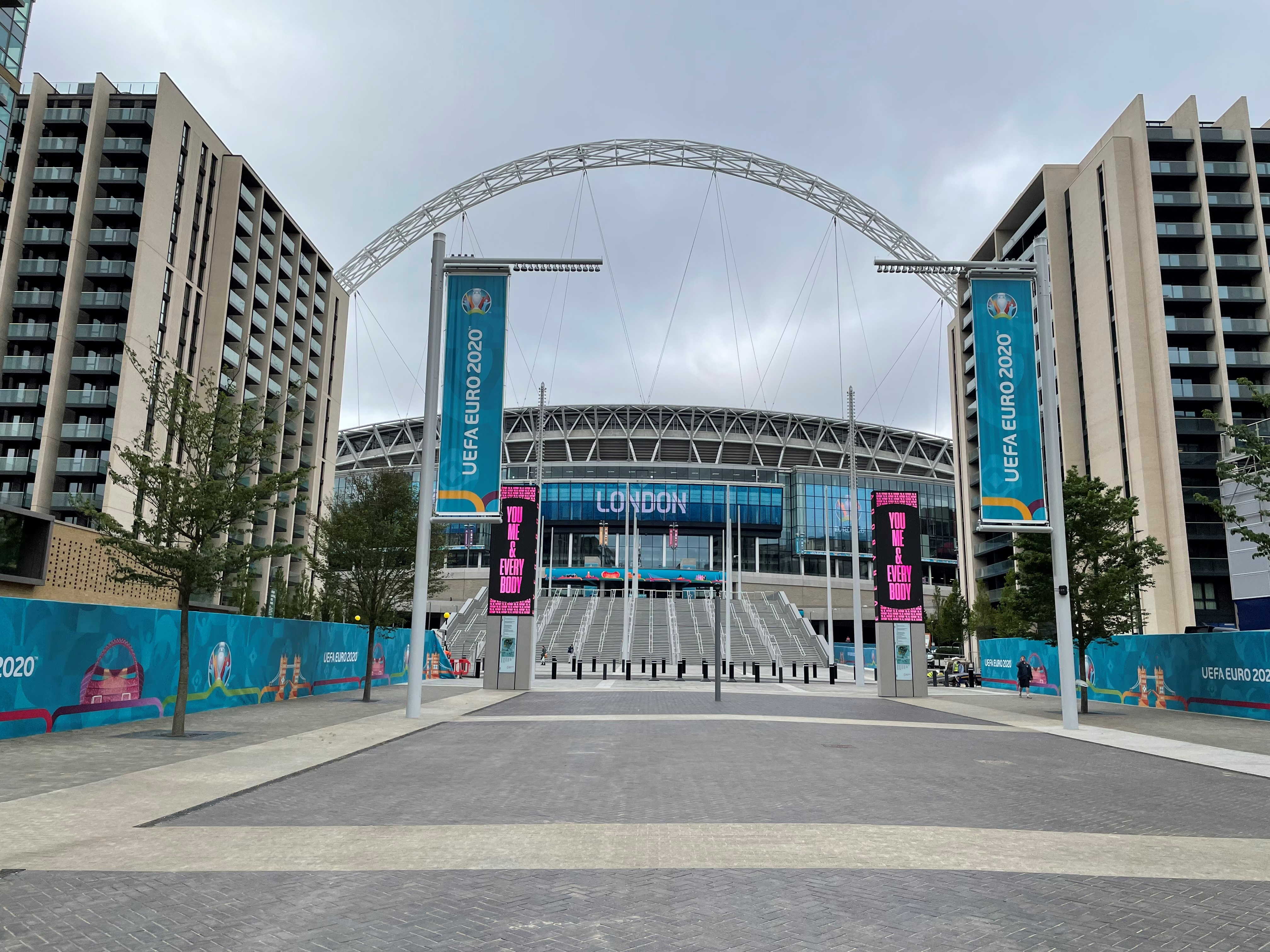 Wembley stadium from the outside.