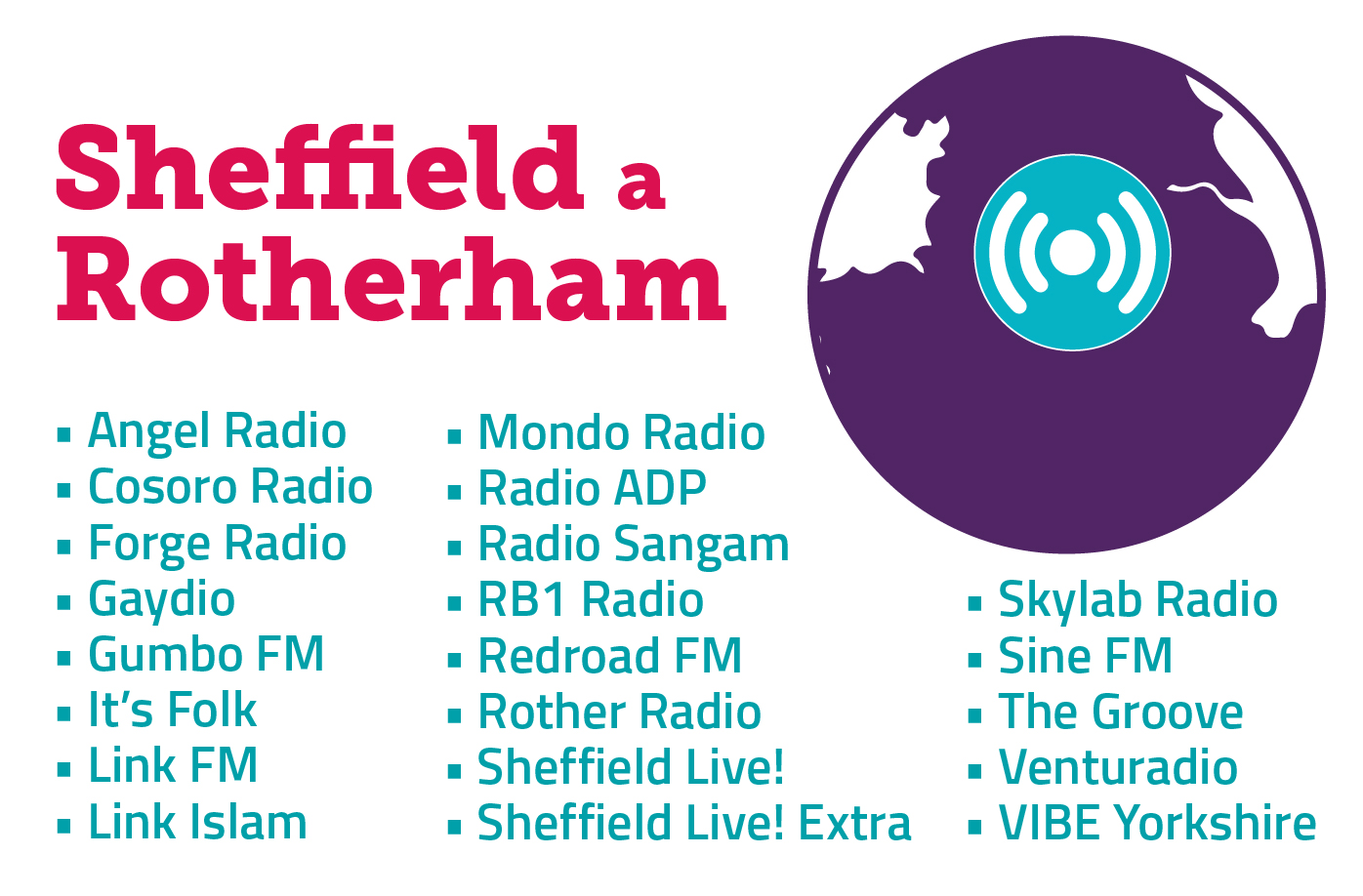 Stations launching in Sheffield and Rotherham.