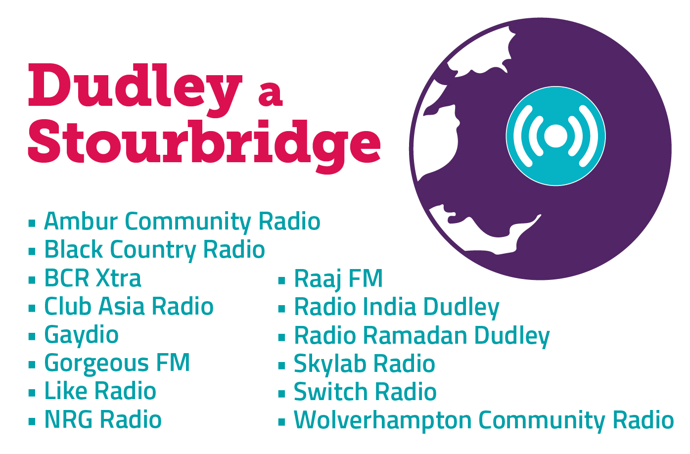 Stations launching in Dudley and Stourbridge.