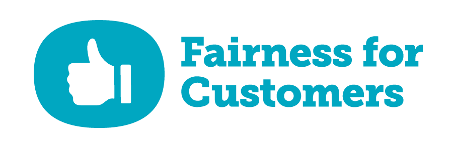 Ofcom's Fairness for Customers logo