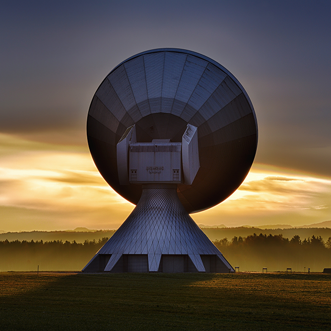 satellite at dawn