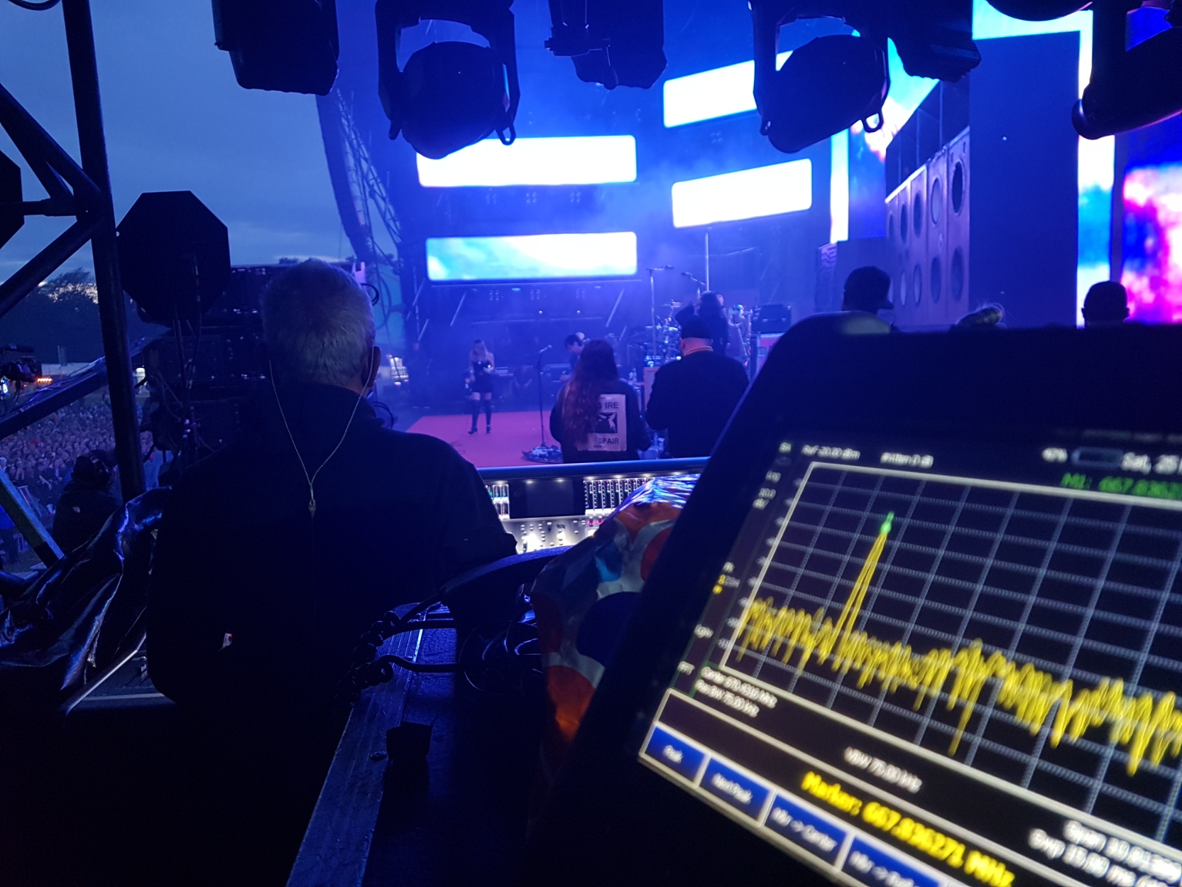 programme-making and special events equipment at a live music event