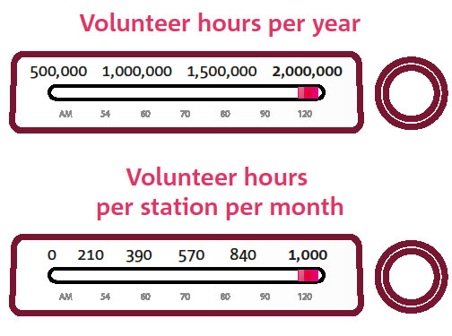 Volunteer statistics