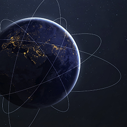 the path of satellites around the earth