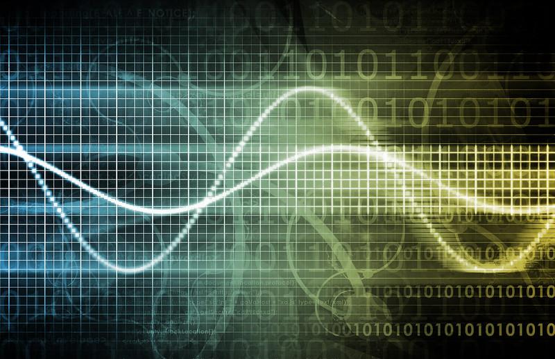 Abstract data/binary code concept