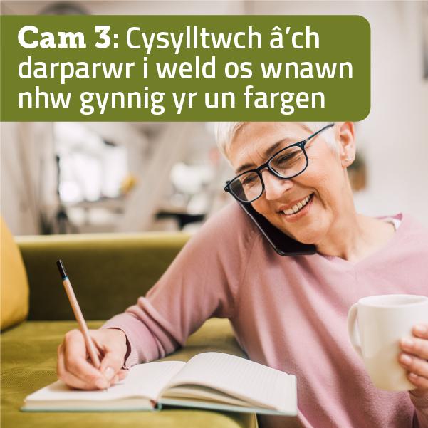 Cysylltwch a'ch darparwr i weld os wnawn nhw gynnig yr un fargen.