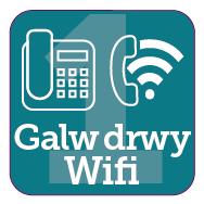 Defnyddiwch eich llinell sefydlog neu wi-fi os gallwch chi