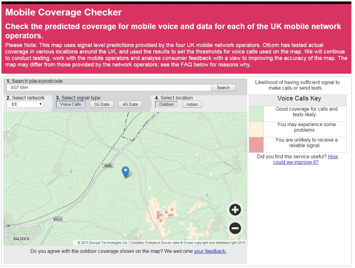 mobile map screenshot
