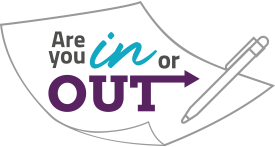 logo - Are you in or out?