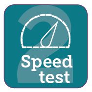 Test the speed on your broadband line