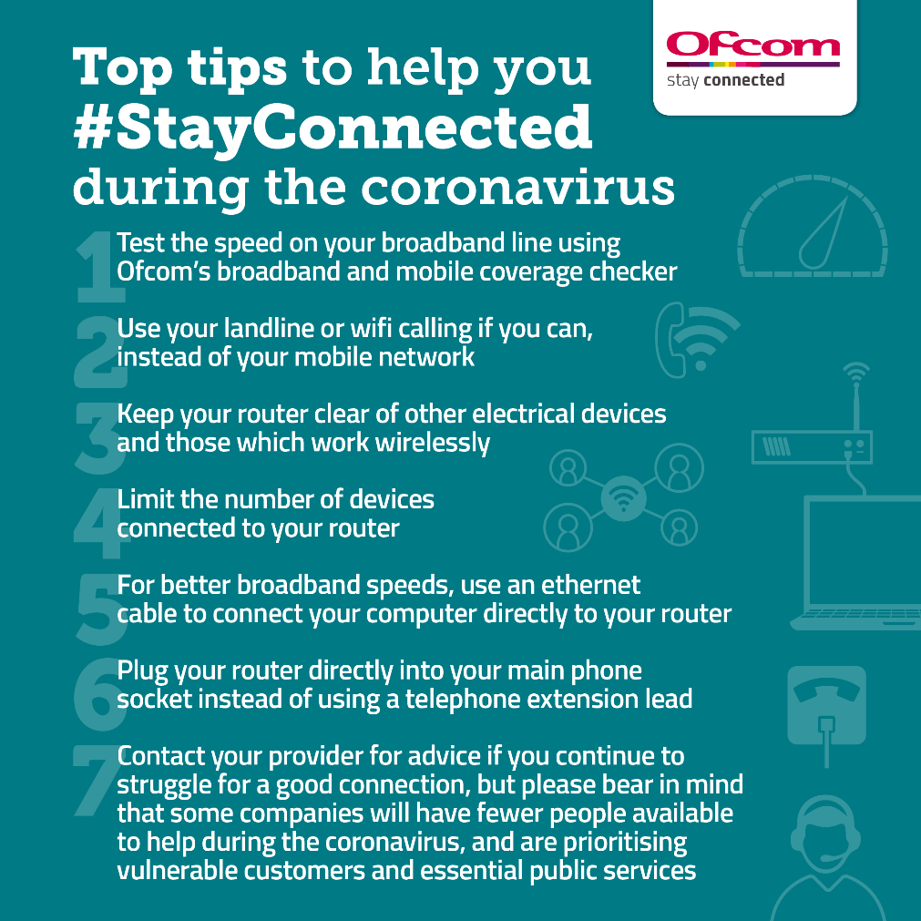 Top tips to help you stay connected during the coronavirus