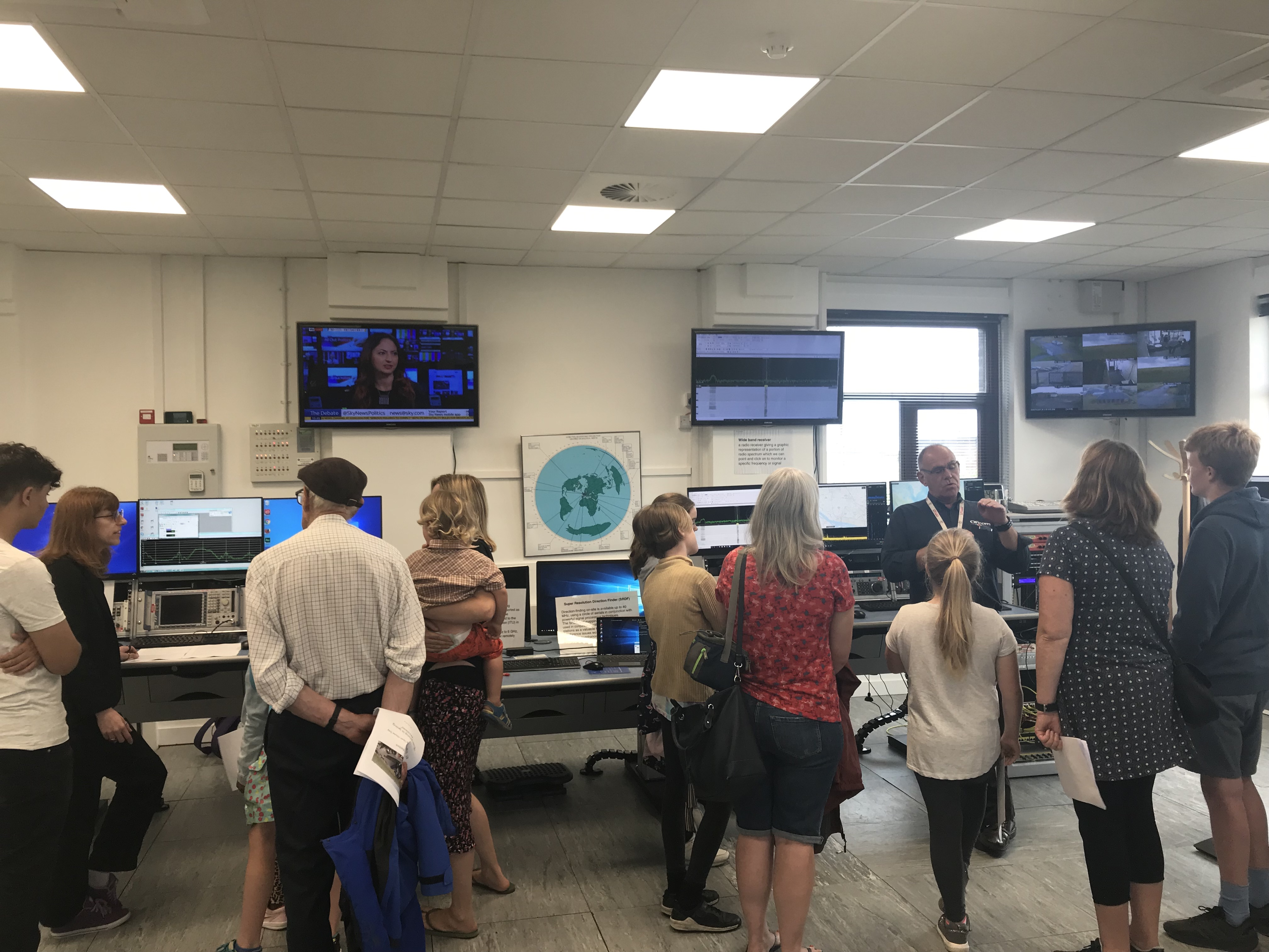 Attendees are given an introduction to Baldock's monitoring work