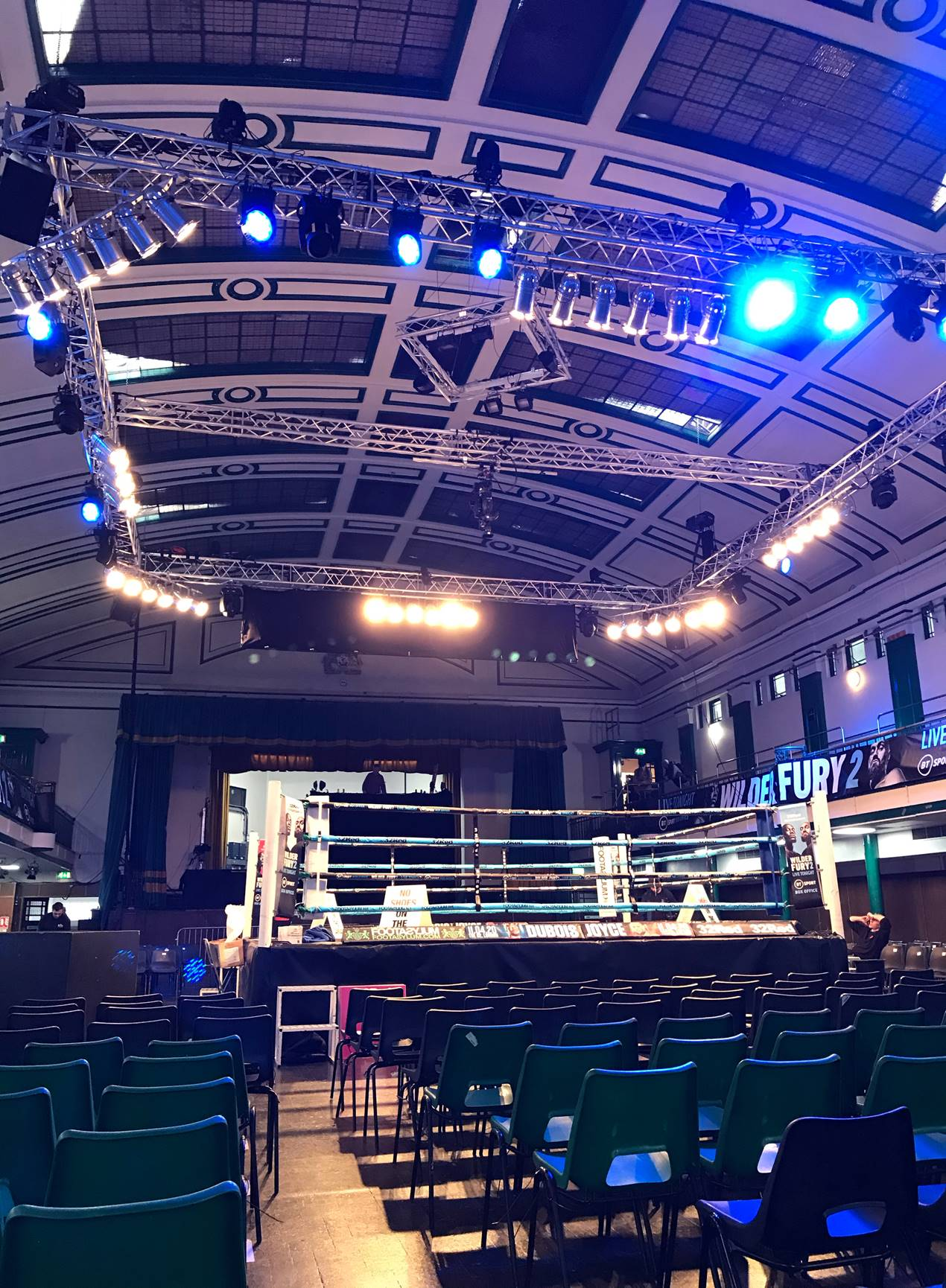 Boxing event at York Hall